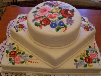 Torta kalocsai mintával