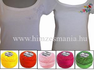 Kalocsai hímezhető póló fonallal
