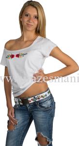 Matyó mintás hímzett póló