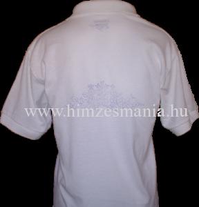 Kalocsai mintás hímezhető galléros póló