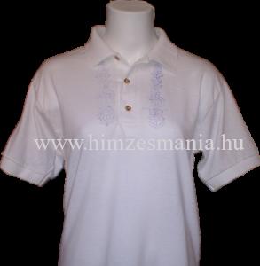 Galléros póló kalocsai mintával