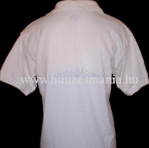 Hímezhető matyó mintás galléros póló