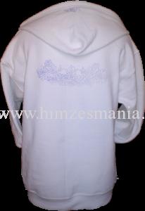 Hímezhető kapucnis pulóver matyó motívummal