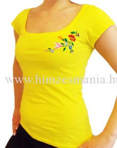 Kalocsai sárga póló