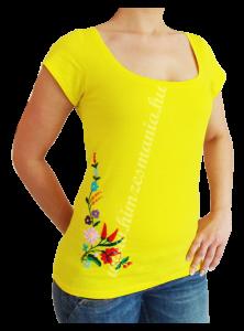 Kalocsai hímzett póló