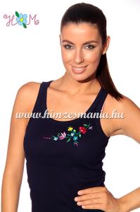 Kalocsai mintás kék női trikó