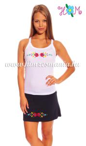 Fehér matyó mintás női trikó
