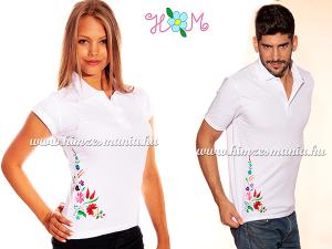 Kalocsai hímzett galléros pólók