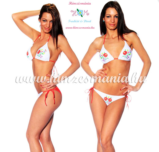 Kalocsai mintás piros bikini