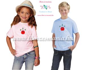 Matyó mintás hímzett gyerek pólók