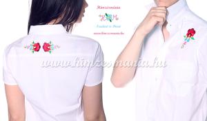 Kalocsai mintás fehér ingek