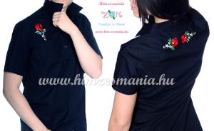 Kalocsai hímzett fekete ingek