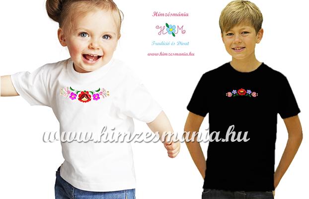 kalocsai mintás hímzett gyerek pólók