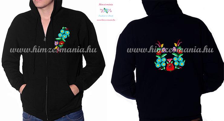 kapucnis-fekete-ferfi-puloverek-kalocsai-kezi-himzes