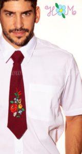 Kalocsai nyakkendő bordó