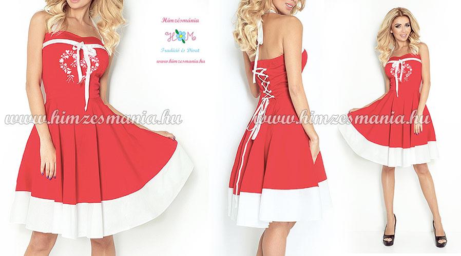Kalocsai hímzett menyecske ruha