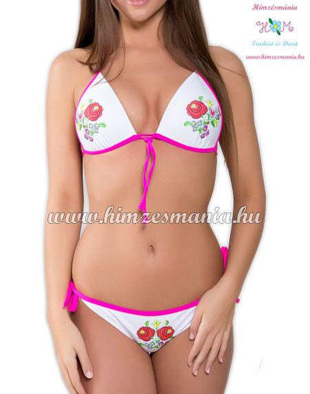 Kalocsai mintás bikini fehér