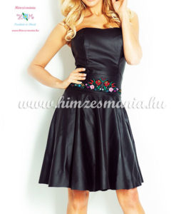 fekete-bor-ruha-kalocsai-mintaval