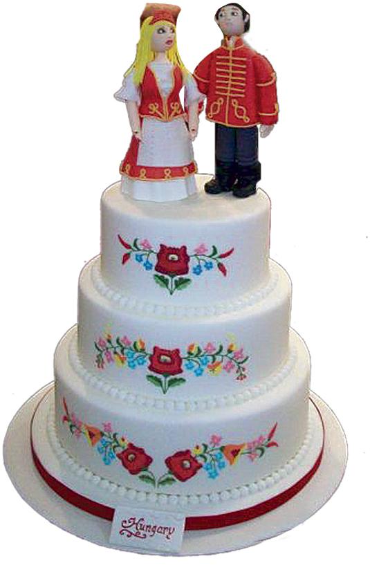 kalocsai mintás esküvői torta Kalocsai mintás esküvői torta   HímzésmániaHímzésmánia kalocsai mintás esküvői torta